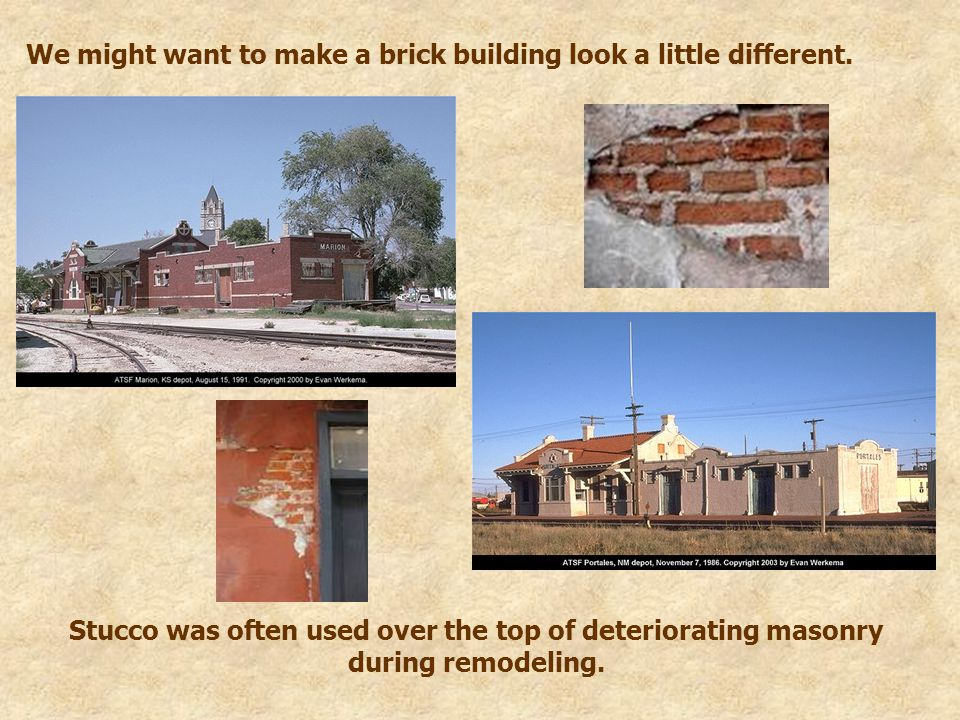 We might want to make a brick building look a little different.