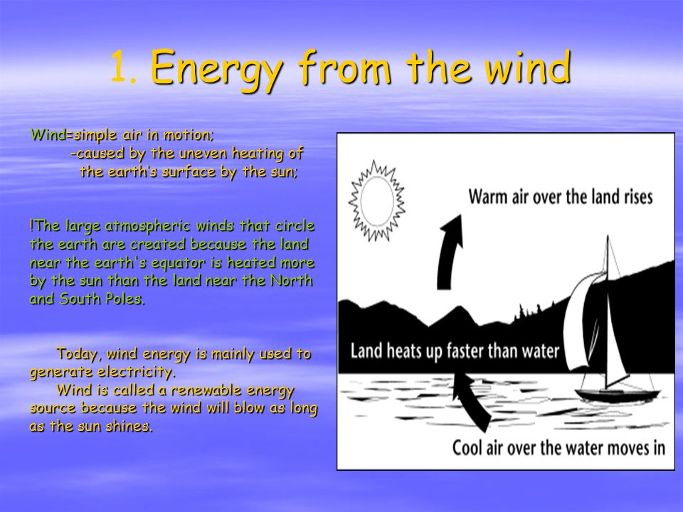Energy from the wind 1.