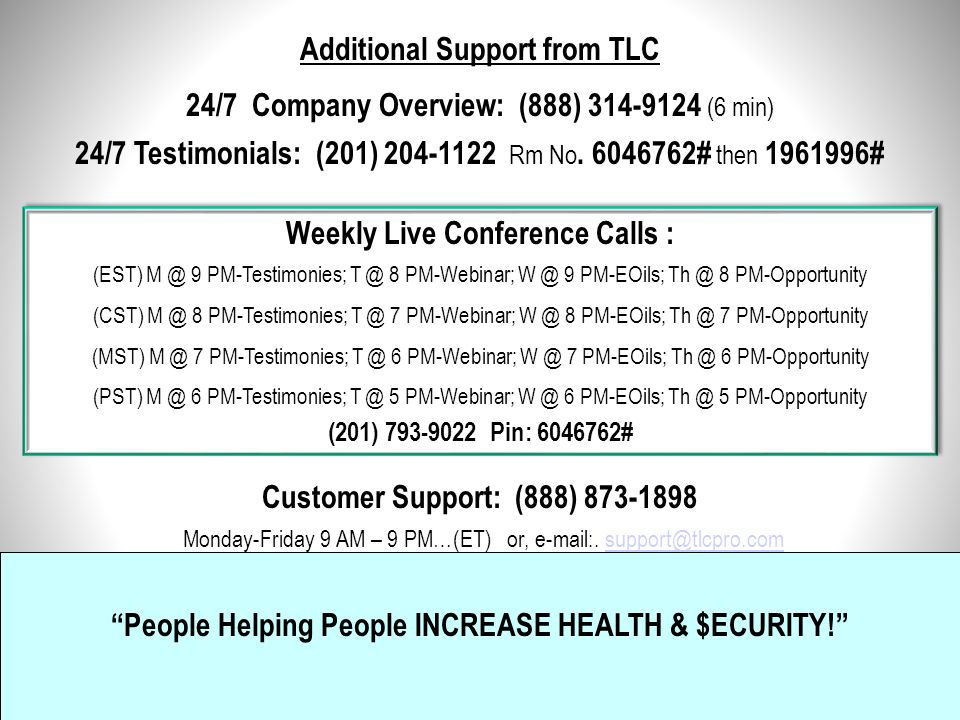 """""""Total Life Changes"""" People helping People … Increase Health… $ecurity … Quality of Life! Thank You for watching… To personalize this presentation and"""
