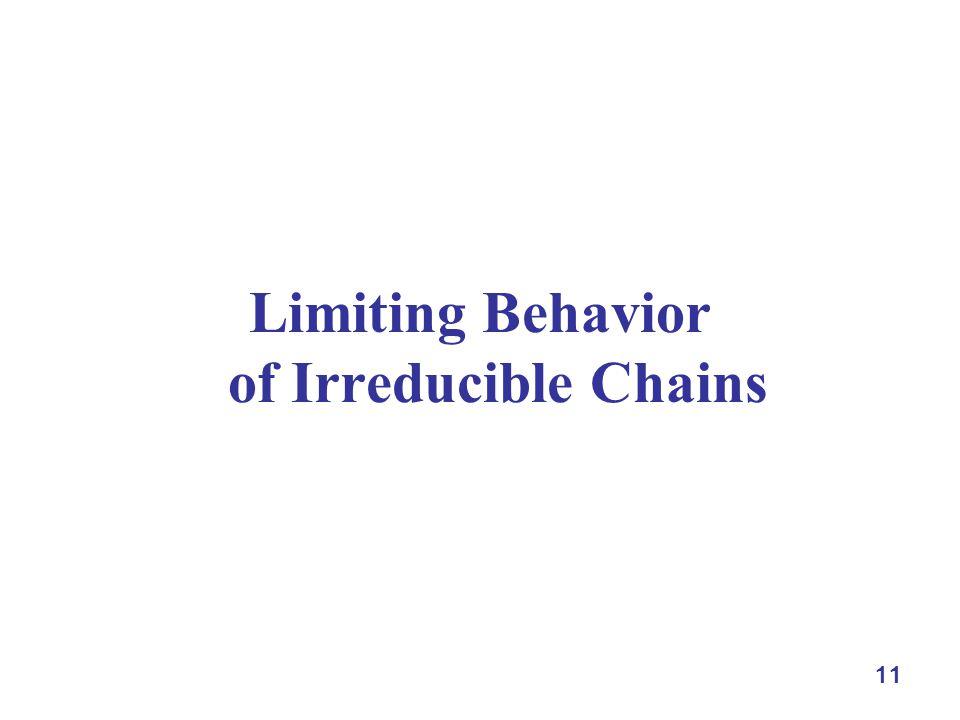 11 Limiting Behavior of Irreducible Chains