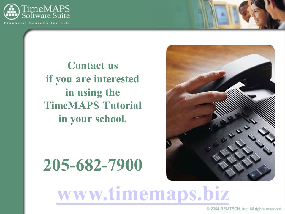 Contact us if you are interested in using the TimeMAPS Tutorial in your school.