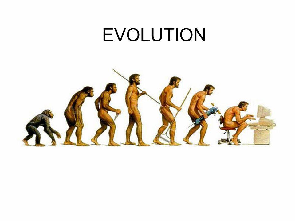 Evolution means a gradual change over time.