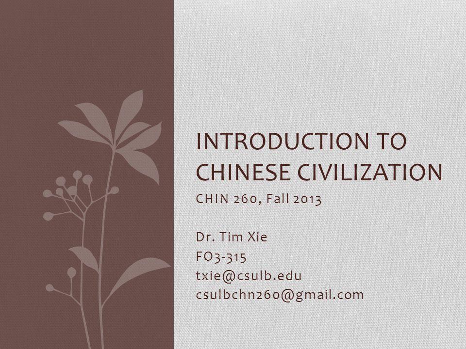 CHIN 260, Fall 2013 Dr.