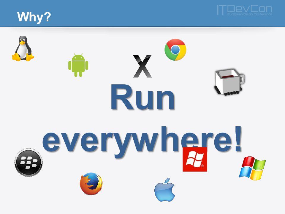Why? Run everywhere!