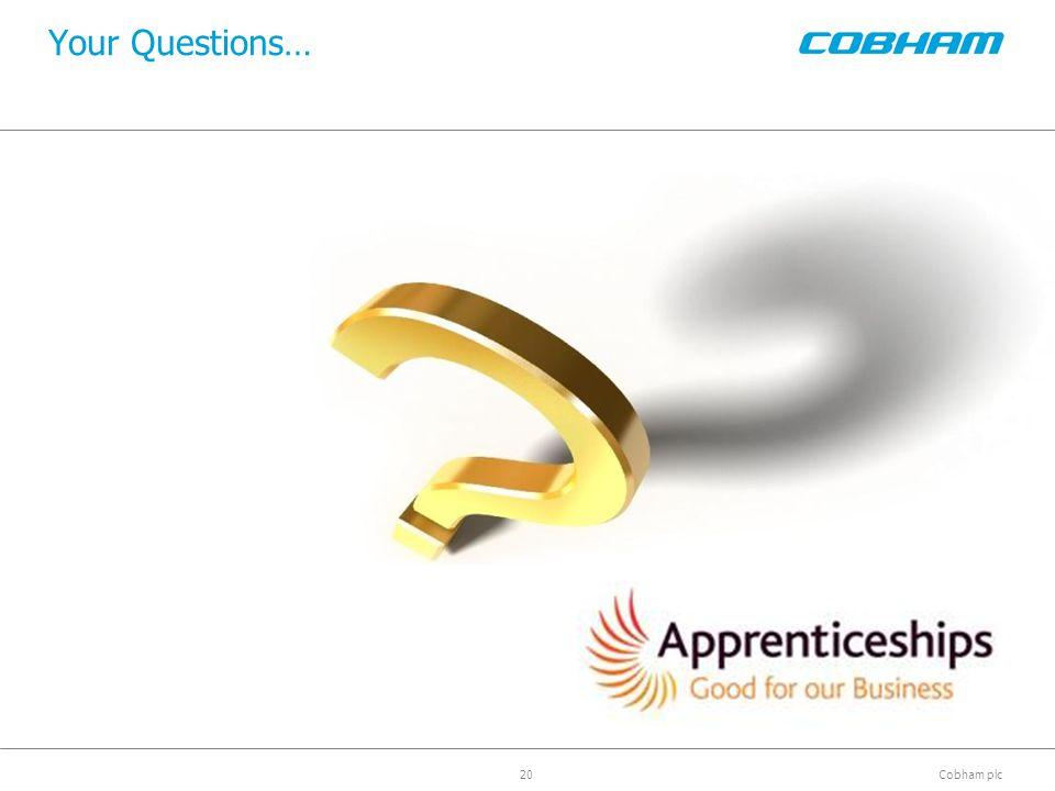 Cobham plc Your Questions… 20