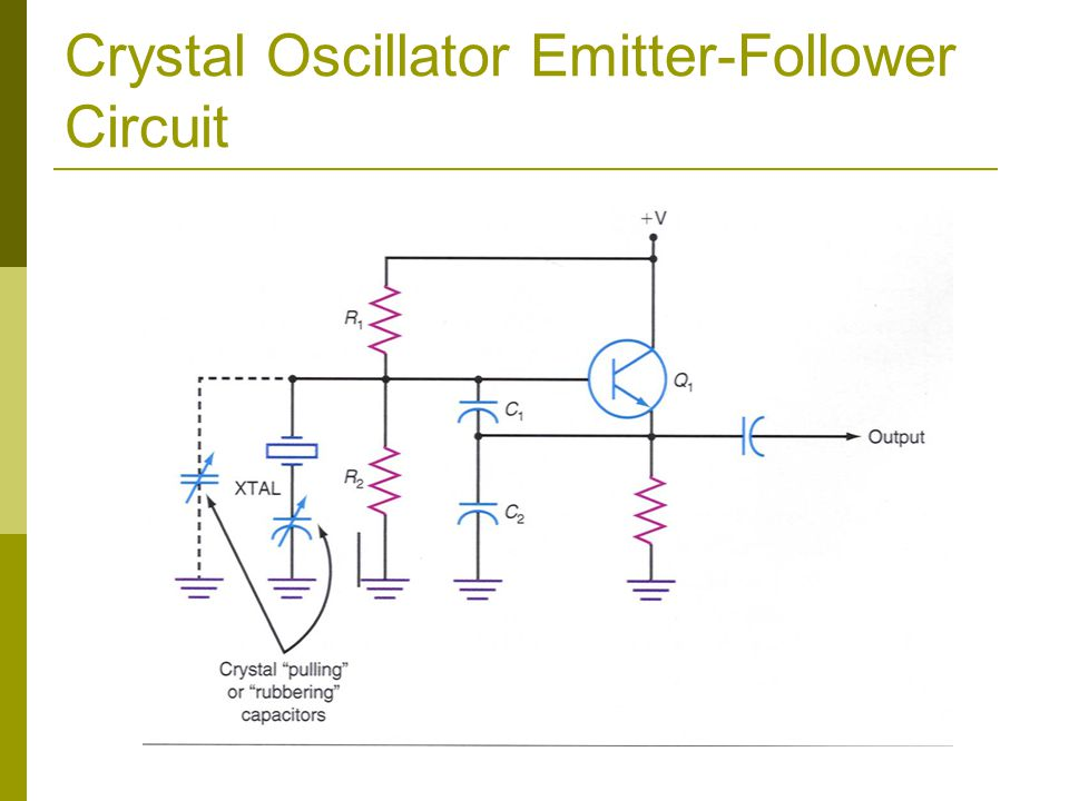 Crystal Oscillator Emitter-Follower Circuit