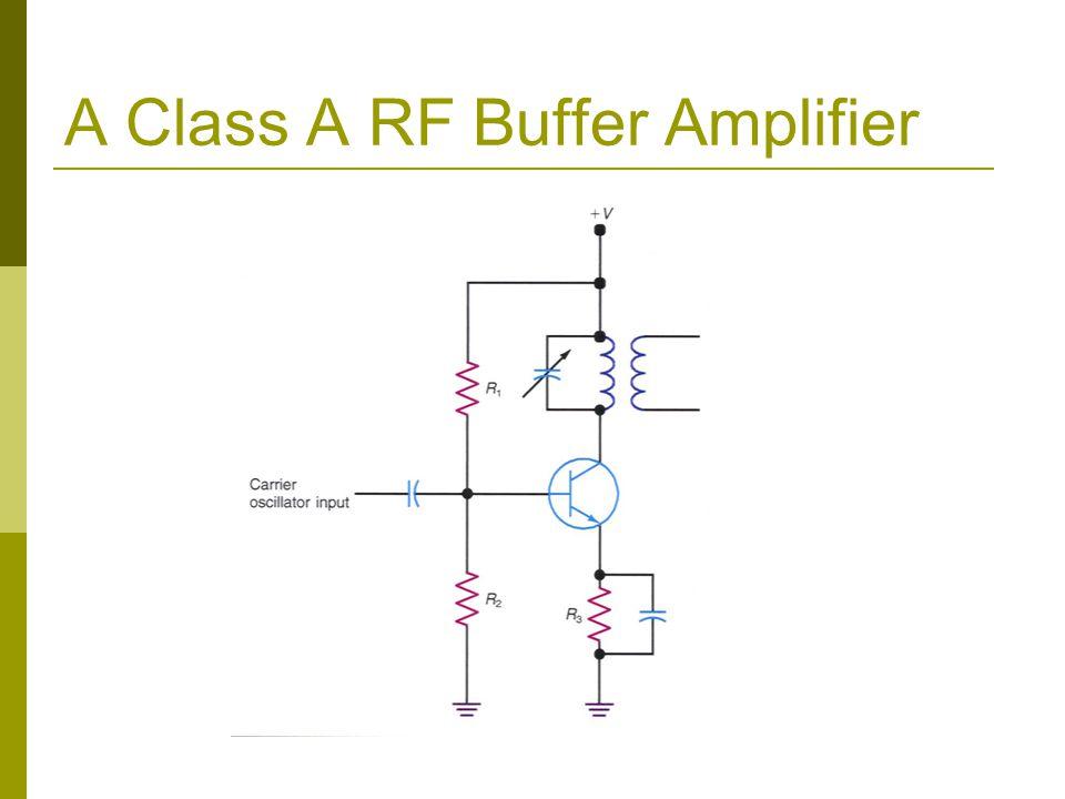 A Class A RF Buffer Amplifier