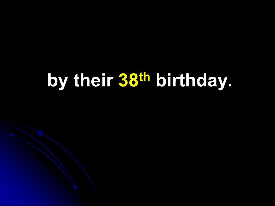 by their 38 th birthday.