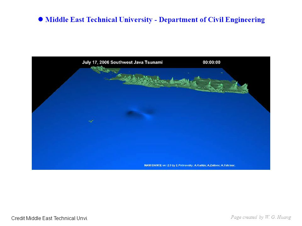 Middle East Technical University - Department of Civil Engineering Page created by W.