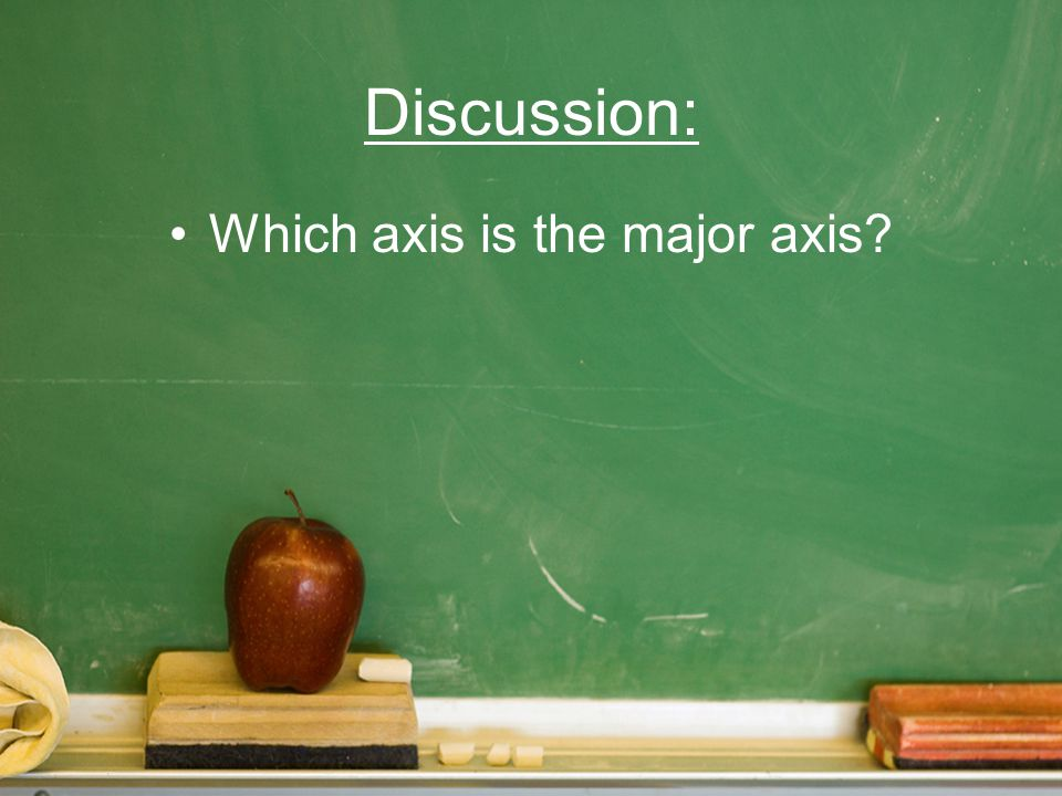Which axis is the major axis