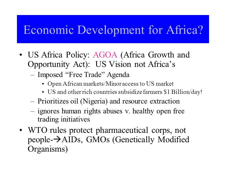 Economic Development for Africa.