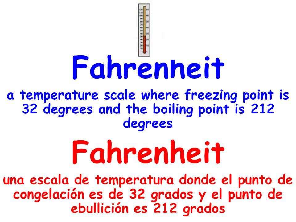 Celsius a temperature scale where 0 degrees was the freezing point and 100 degrees was defined as the boiling point Celsius una escala de temperatura donde 0 grados es el punto de congelación y 100 grados es el punto de ebullición