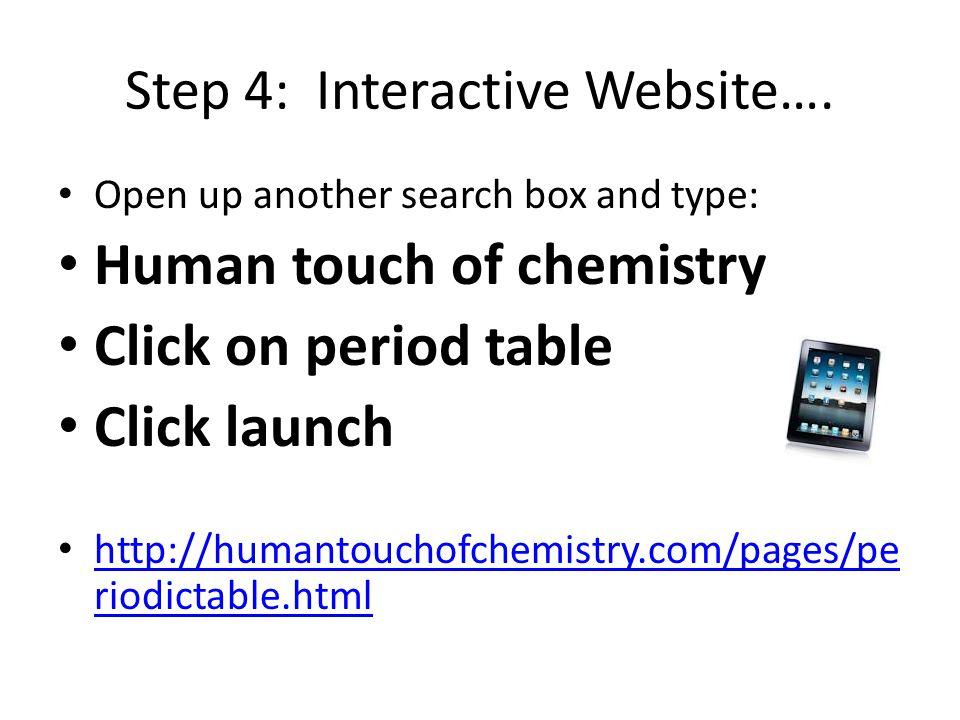 Step 4: Interactive Website….