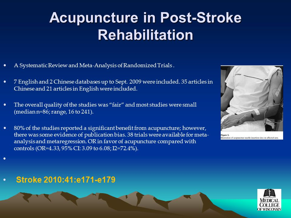 Acupuncture in Post-Stroke Rehabilitation A Systematic Review and Meta-Analysis of Randomized Trials.