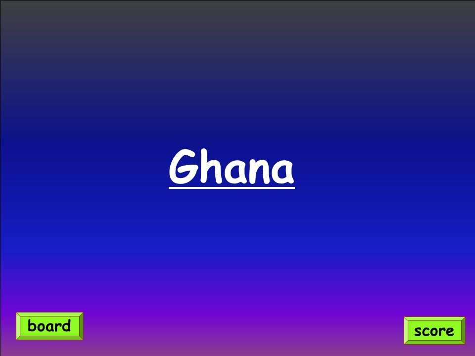 Ghana score board