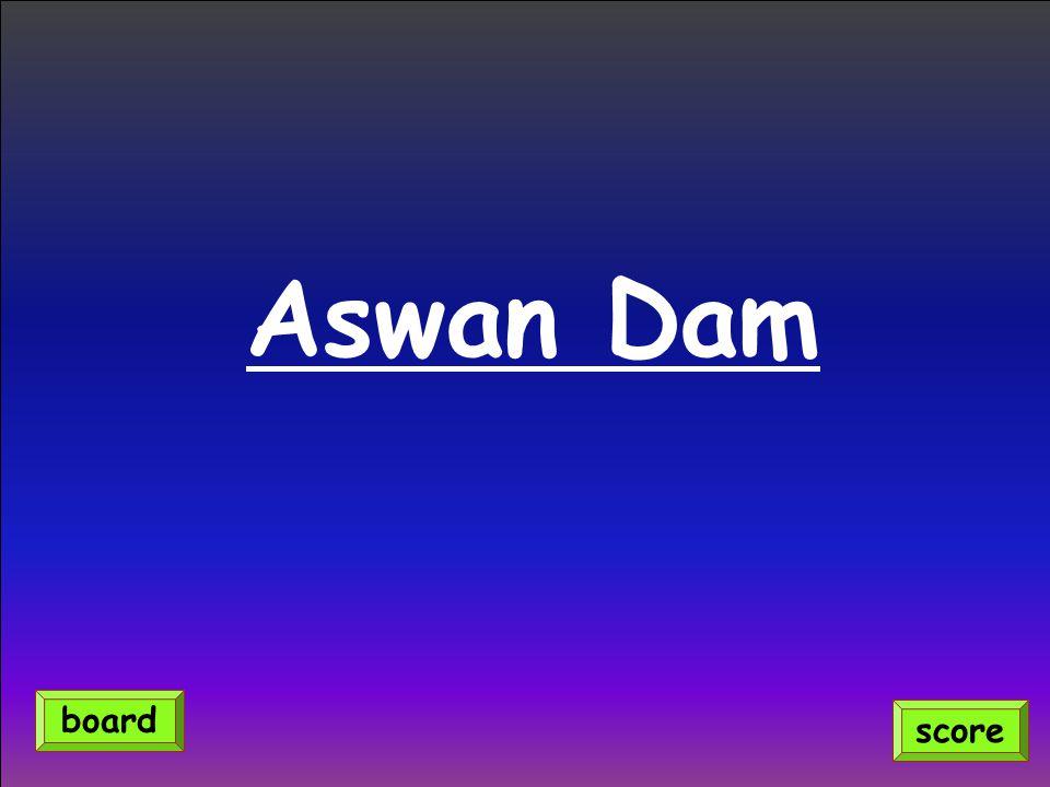Aswan Dam score board