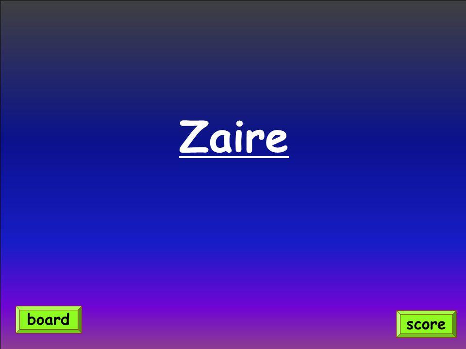 Zaire score board