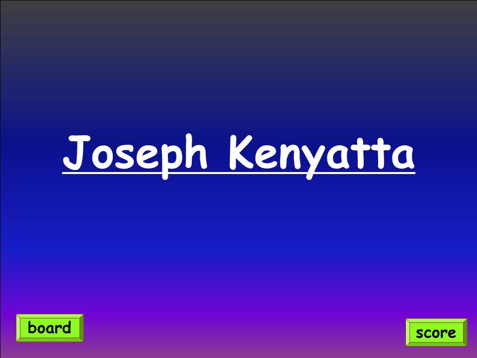 Joseph Kenyatta score board