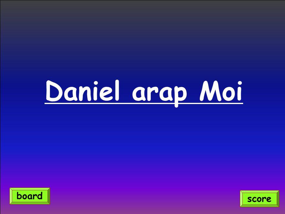 Daniel arap Moi score board