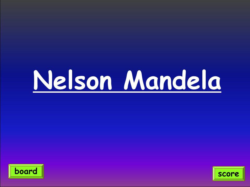 Nelson Mandela score board