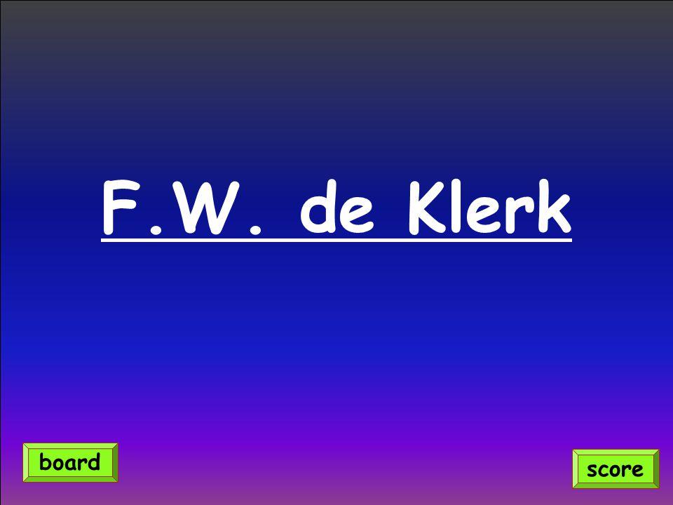 F.W. de Klerk score board