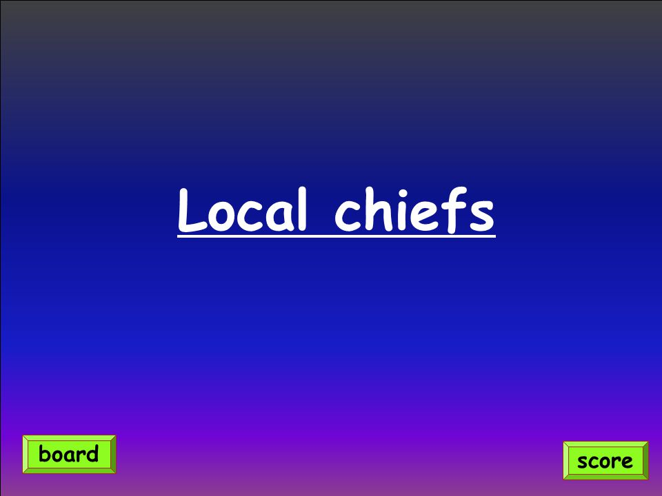 Local chiefs score board