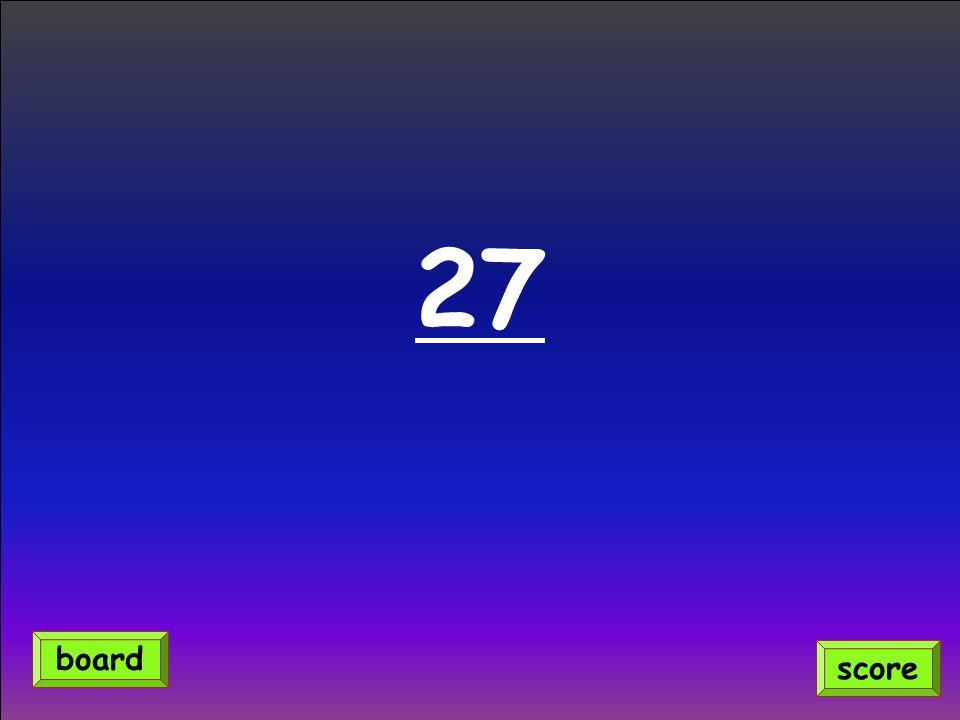 27 score board