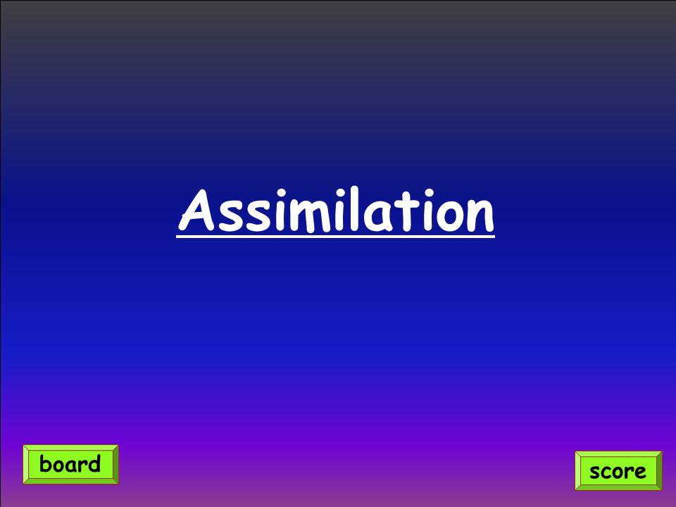 Assimilation score board