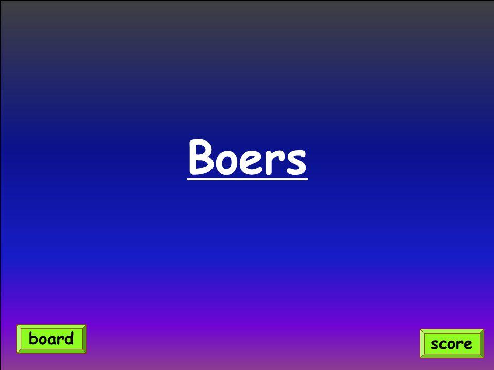 Boers score board