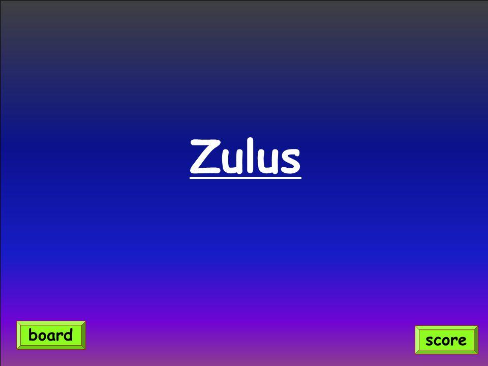 Zulus score board