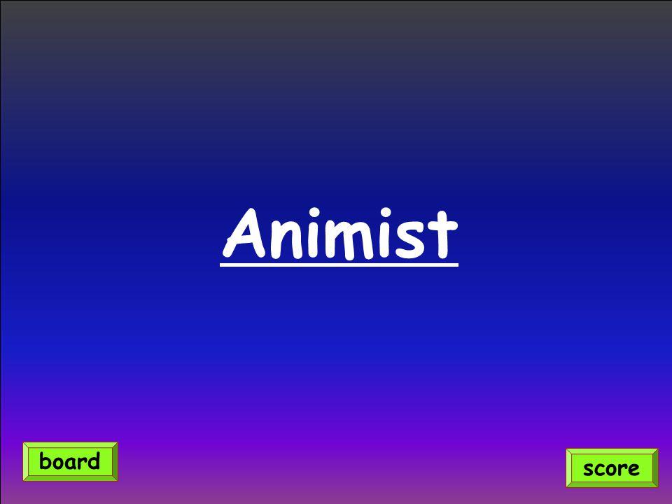 Animist score board