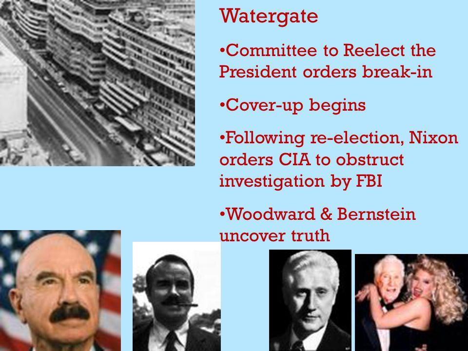 Watergate Nixon loses Supreme Court case Nixon, avoiding impending impeachment & conviction, resigns in disgrace