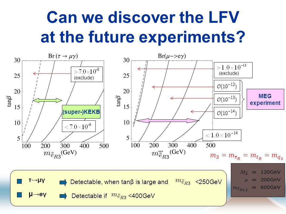 Can we discover the LFV at the future experiments.
