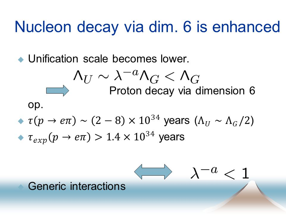 Nucleon decay via dim. 6 is enhanced