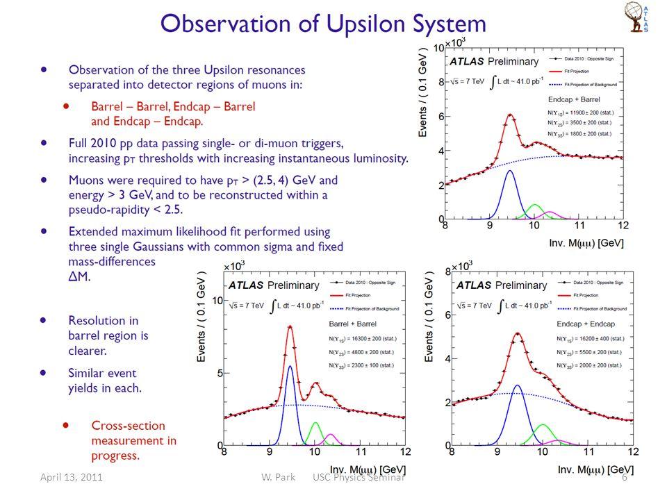 April 13, 2011W. Park USC Physics Seminar27