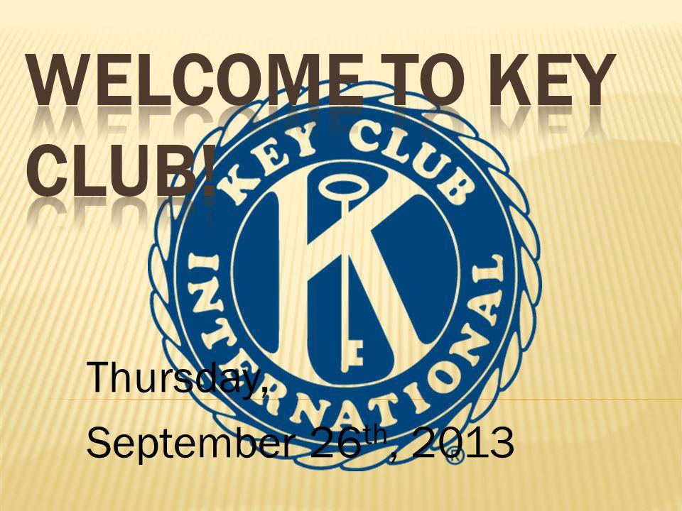 Thursday, September 26 th, 2013