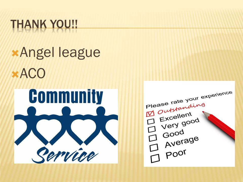  Angel league  ACO