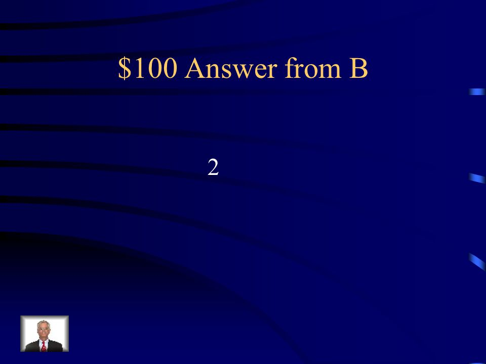 $100 Question from B How many years does a Congressional term last
