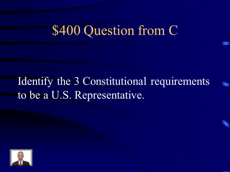 $300 Answer from C Bill Johnson– Republican – 6th
