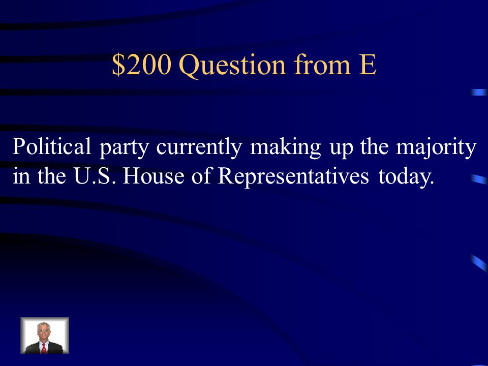 $100 Answer from E Democrats