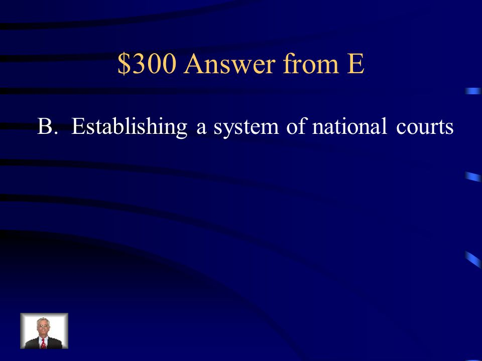 $300 Question from E Which of the following is an expressed power of Congress.