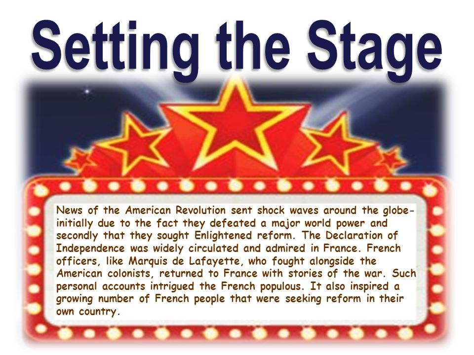 News of the American Revolution sent shock waves around the globe- initially due to the fact they defeated a major world power and secondly that they
