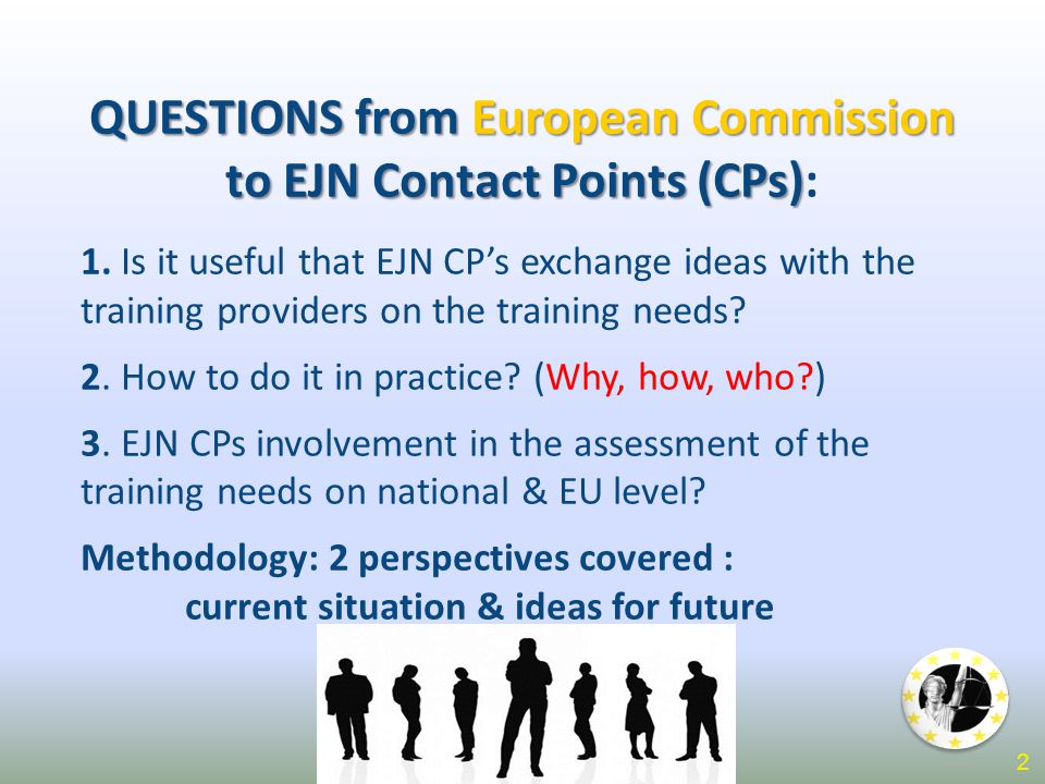 QUESTIONS from European Commission to EJN Contact Points (CPs) QUESTIONS from European Commission to EJN Contact Points (CPs): 1.