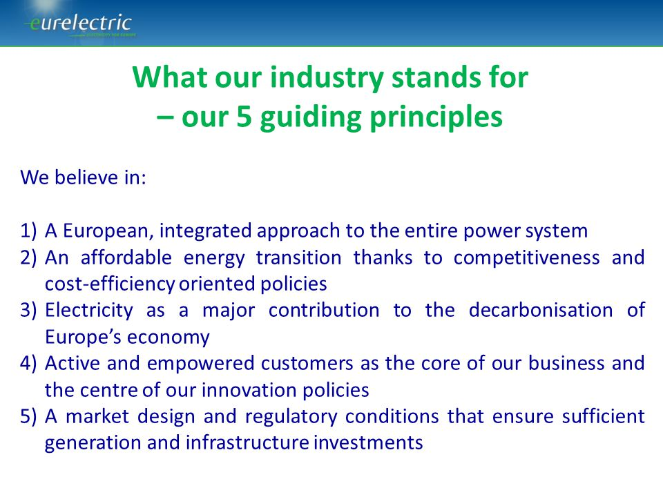 ETS as the key driver Strong innovation policy National RES and EE schemes National carbon price floors/taxes National capacity mechanisms MARKETS ARE FRAGMENTED AND POLICIES ARE START/STOP ENERGY MARKET INTEGRATION AND (MORE) PREDICTABLE POLICIES NL coal tax UK carbon price floor Today: internal energy market or x28 chaos?