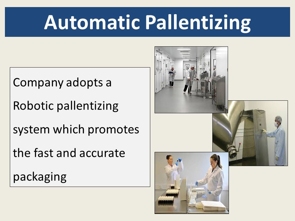 Automatic Pallentizing Company adopts a Robotic pallentizing system which promotes the fast and accurate packaging
