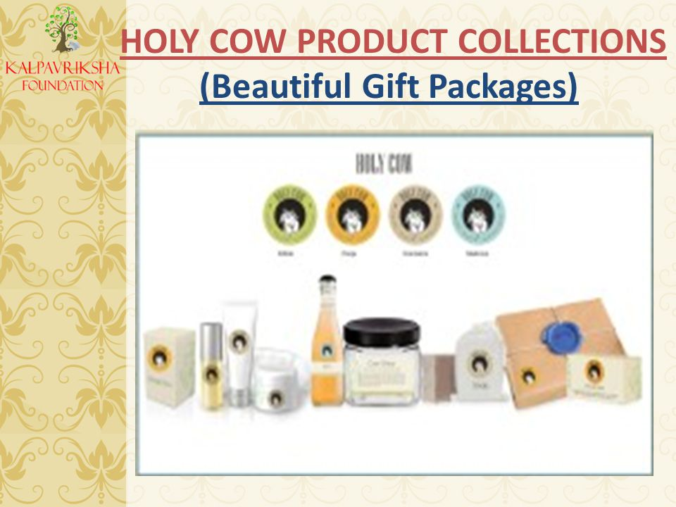 HOLY COW PRODUCT COLLECTIONS (Beautiful Gift Packages)