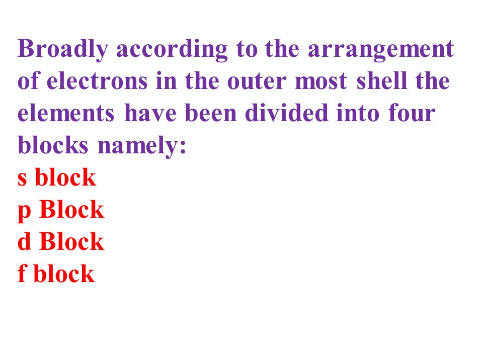 Why elements are arranged in increasing order of atomic numbers? Why do properties of elements repeat after regular intervals? Because when elements a