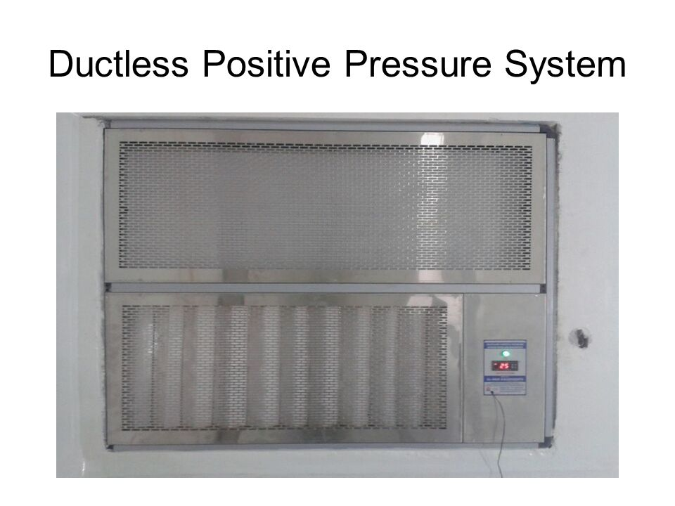 Ductless Positive Pressure System