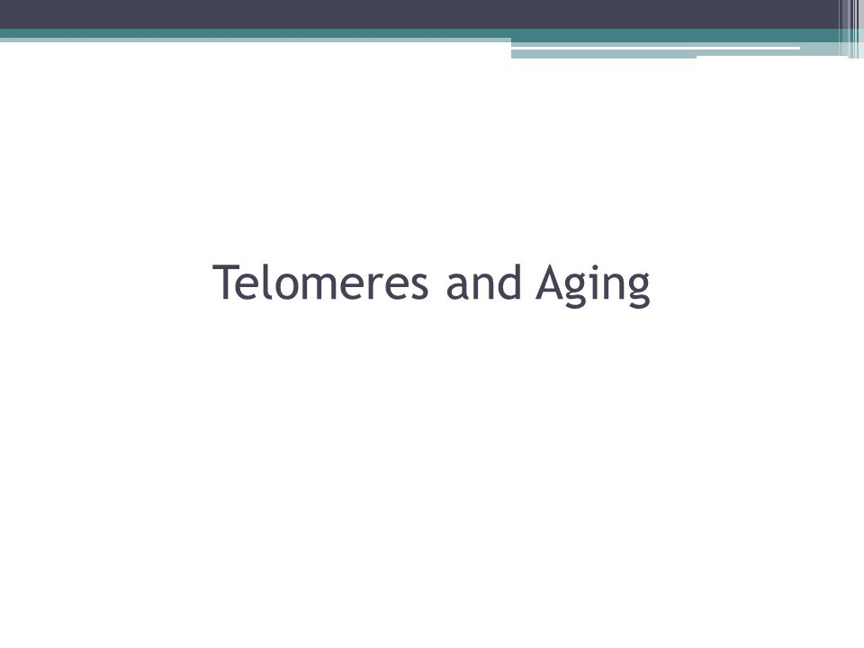 Telomeres and Aging