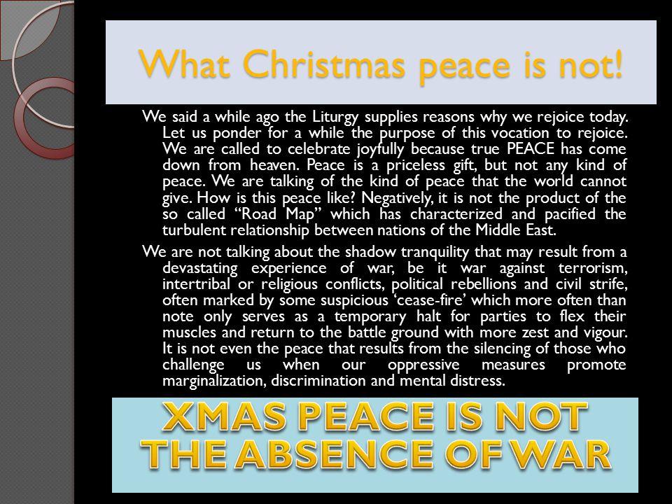 True Christmas Peace.